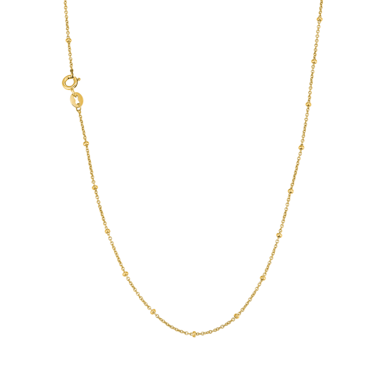 Collier Unisex, 375 Gelbgold, Fantasiegliederung 42 cm