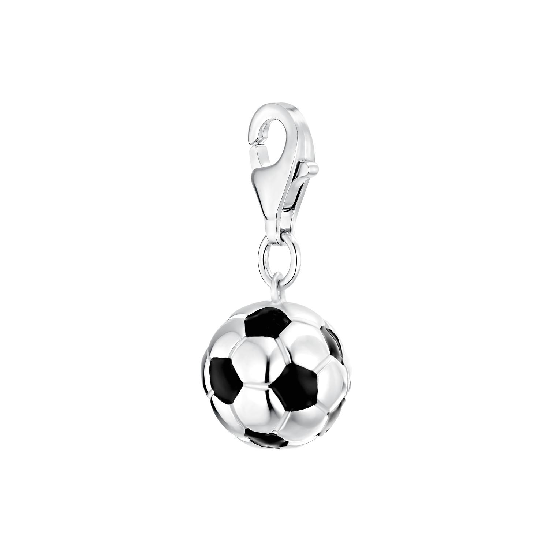 Charm für Damen, 925 Sterling Silber | Fußball
