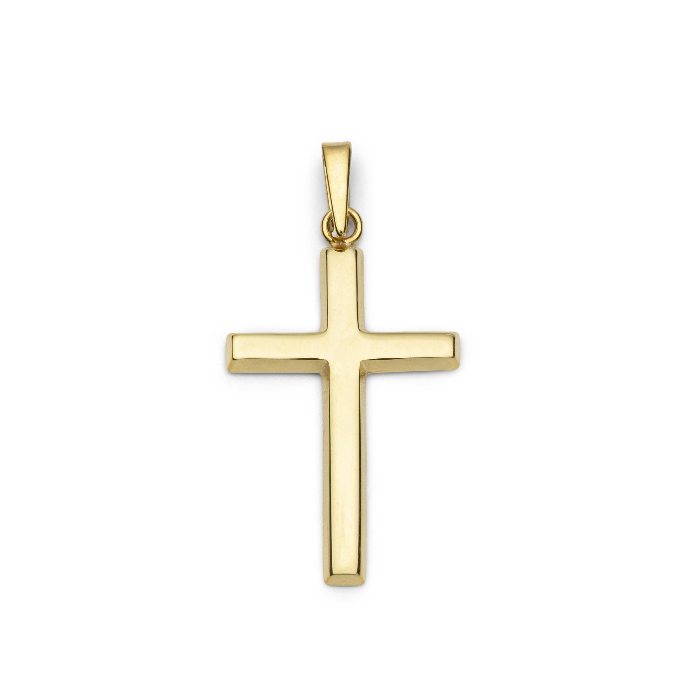 Anhänger Unisex aus Gold 375/9 ct Kreuz
