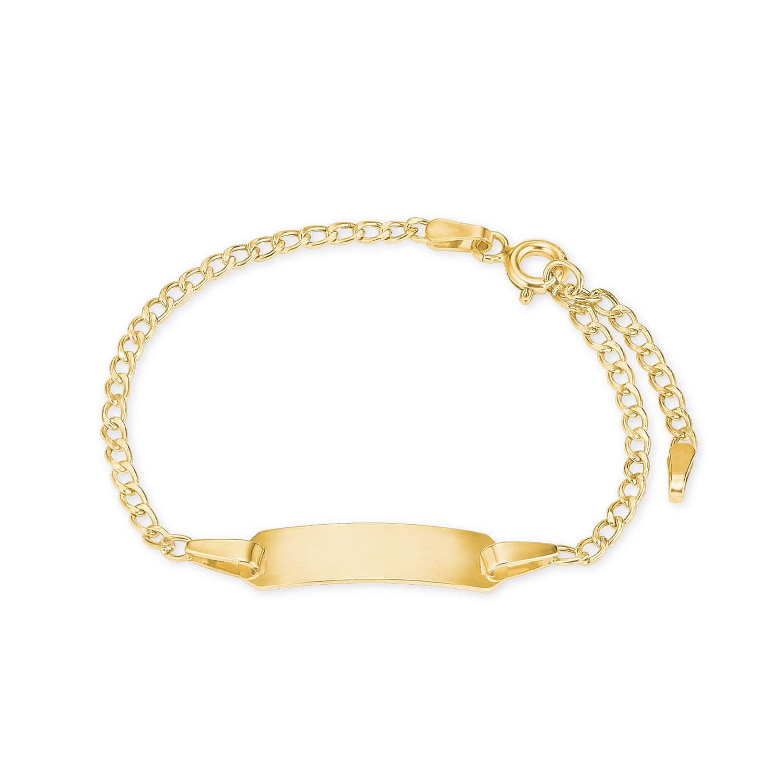 Identarmband für Kinder Unisex für  aus 375 Gold, längenverstellbar 12+2 cm