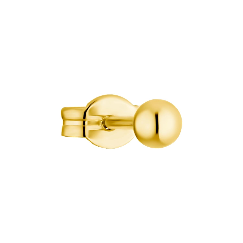 Single Ohrstecker für Damen, 375 Gold