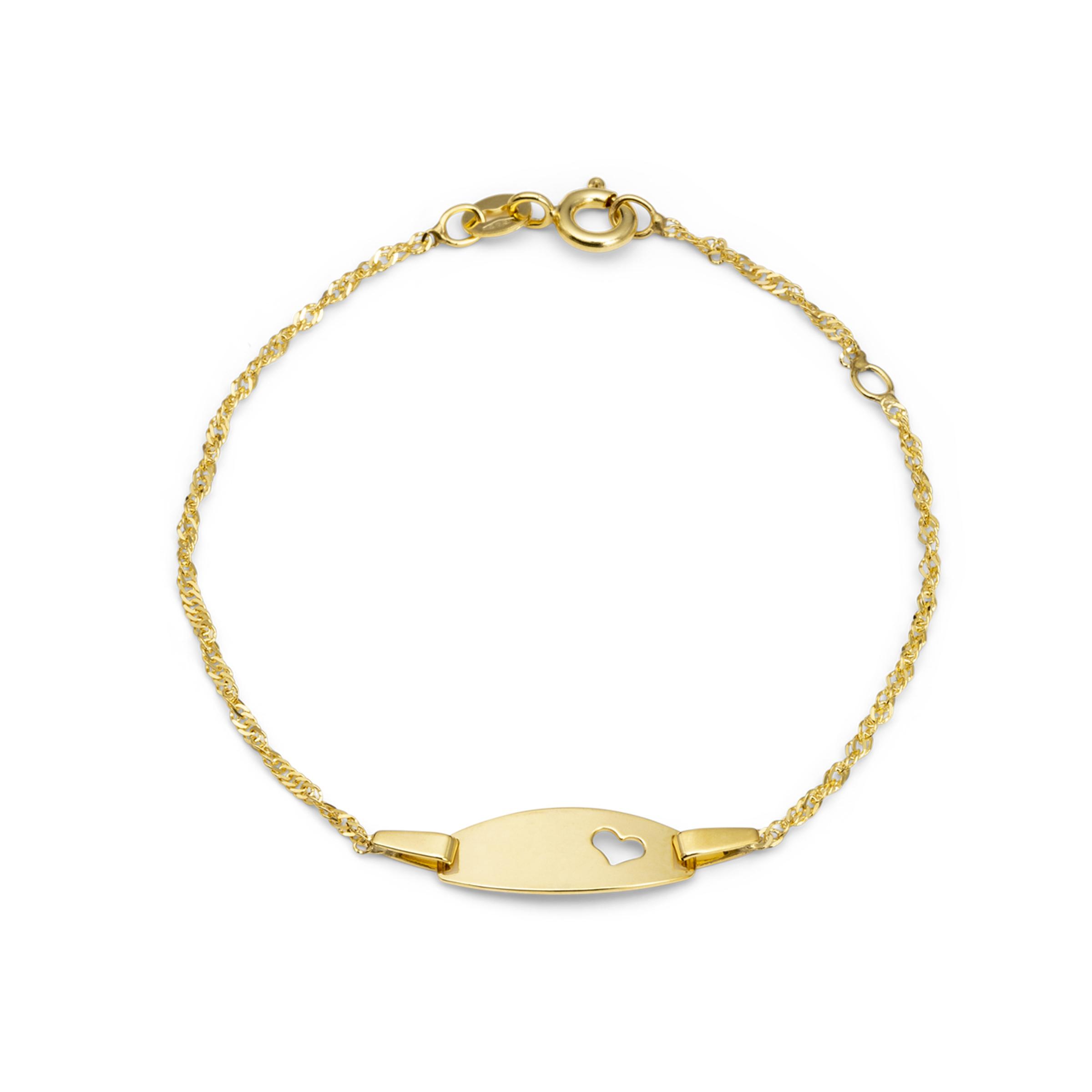 Armband für Mädchen, Gold 375, Herz
