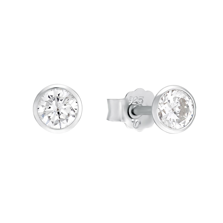Ohrstecker für Damen, Sterling Silber 925 mit Zirkonia