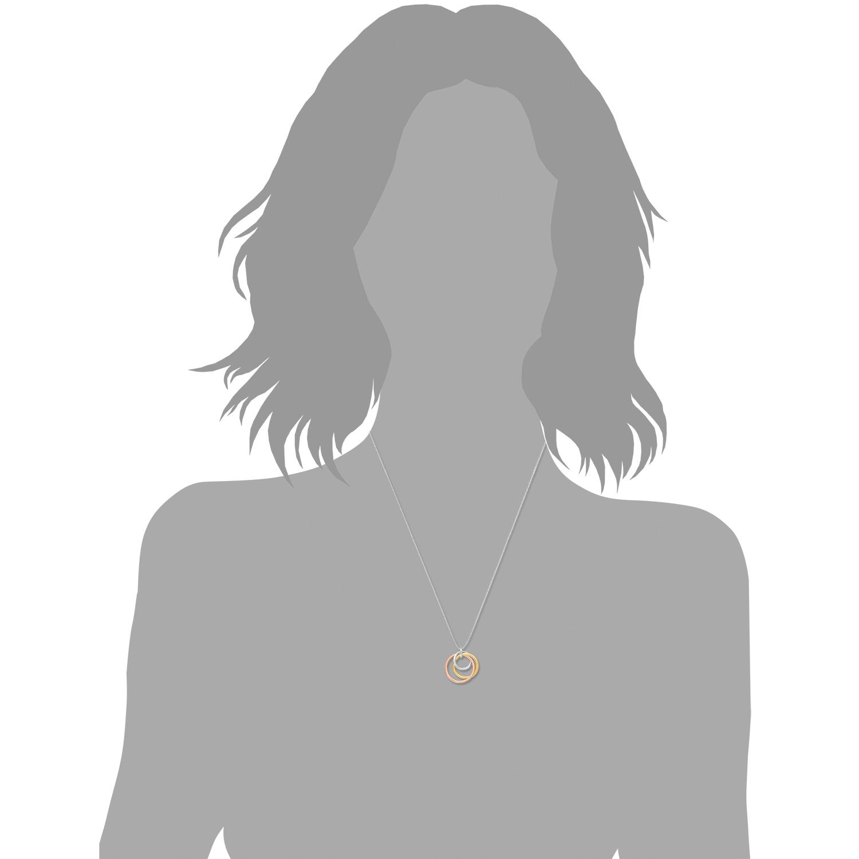 Kette mit Anhänger für Damen, Sterling Silber 925, Ring