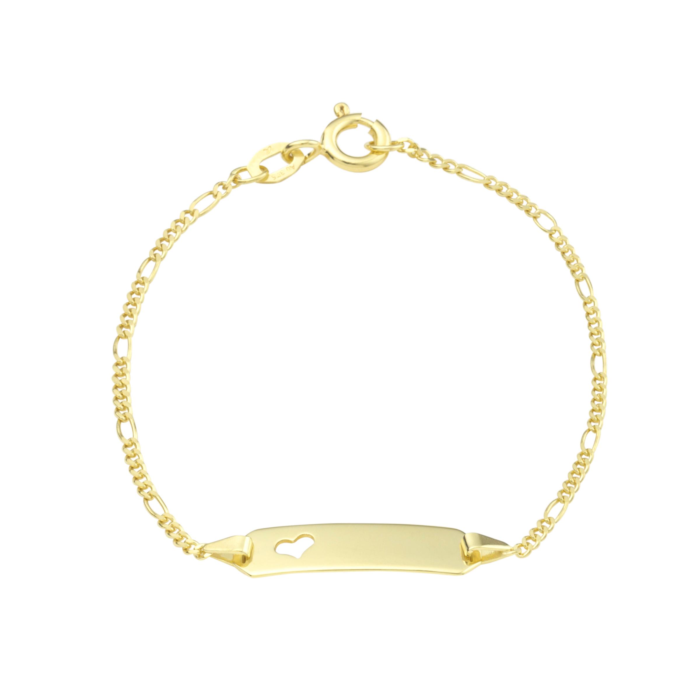 Identarmband Gold 375/9 ct Herz