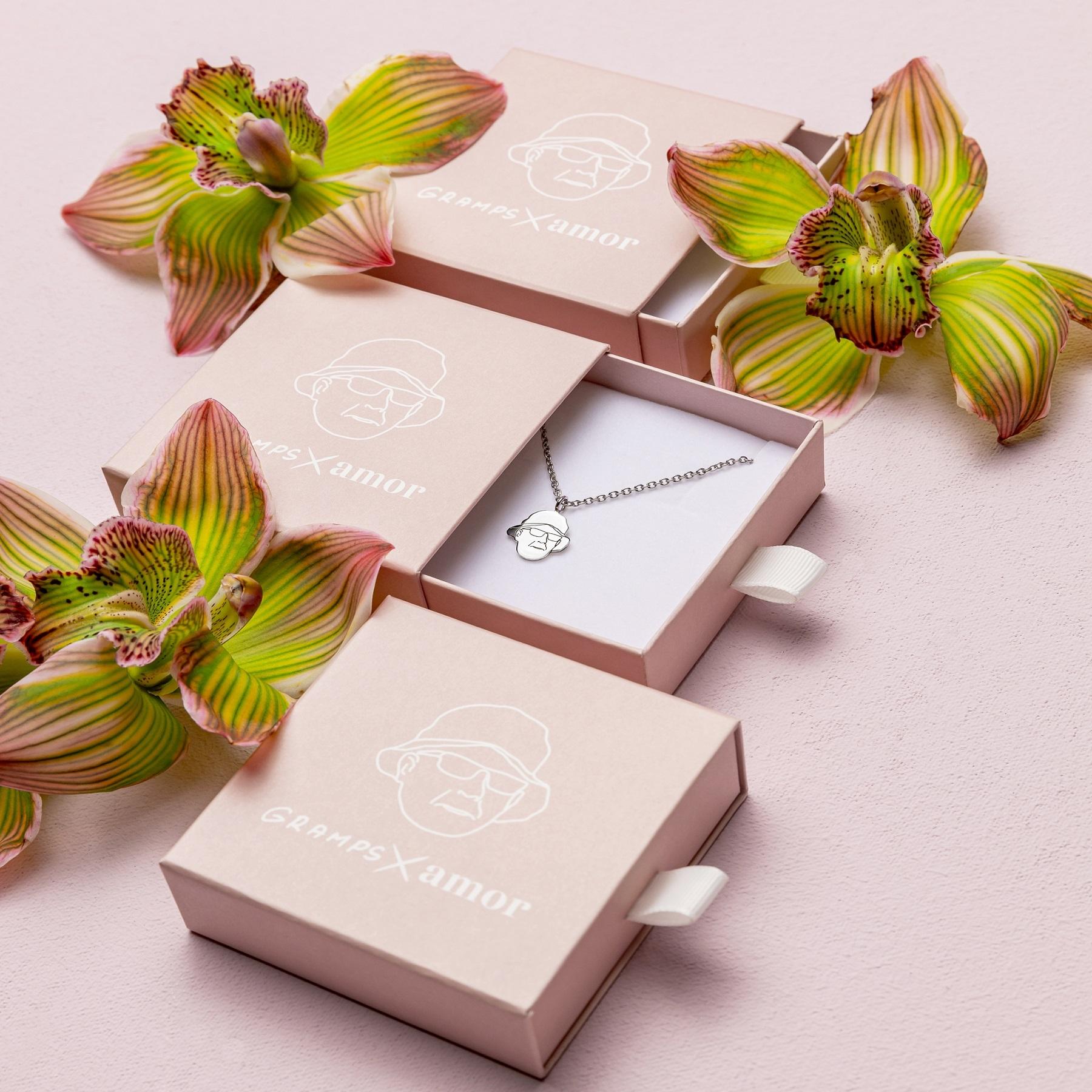 Kette mit Anhänger | Choker, Sterling Silber 925, Rose bicolor
