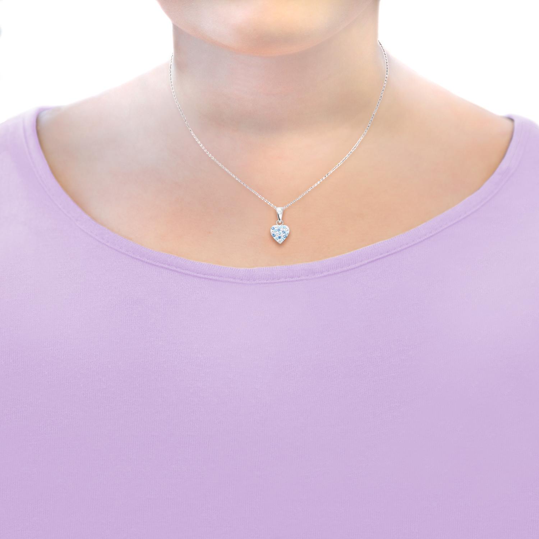 Kette mit Anhänger für Mädchen mit Anhänger Herz  925 Sterling Silber Preciosa