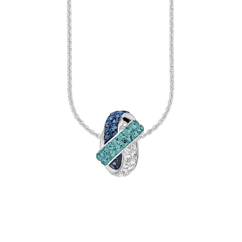 Kette mit Anhänger für Damen, Sterling Silber 925, Swarovski Kristall® Fantasie
