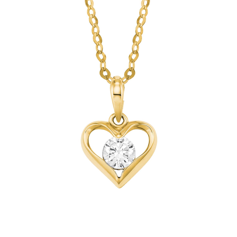 Kette mit Anhänger Damen Kette mit Anhänger von amor aus Gold 585/14 ct Herz