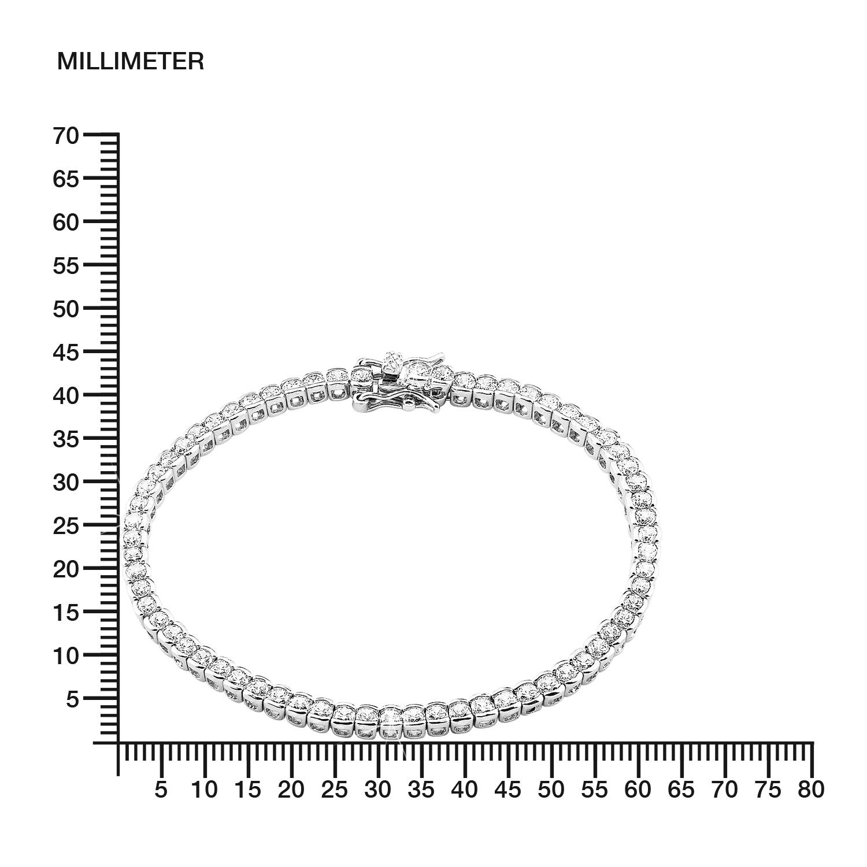 Tennisarmband für Damen, Sterling Silber 925, Zirkonia
