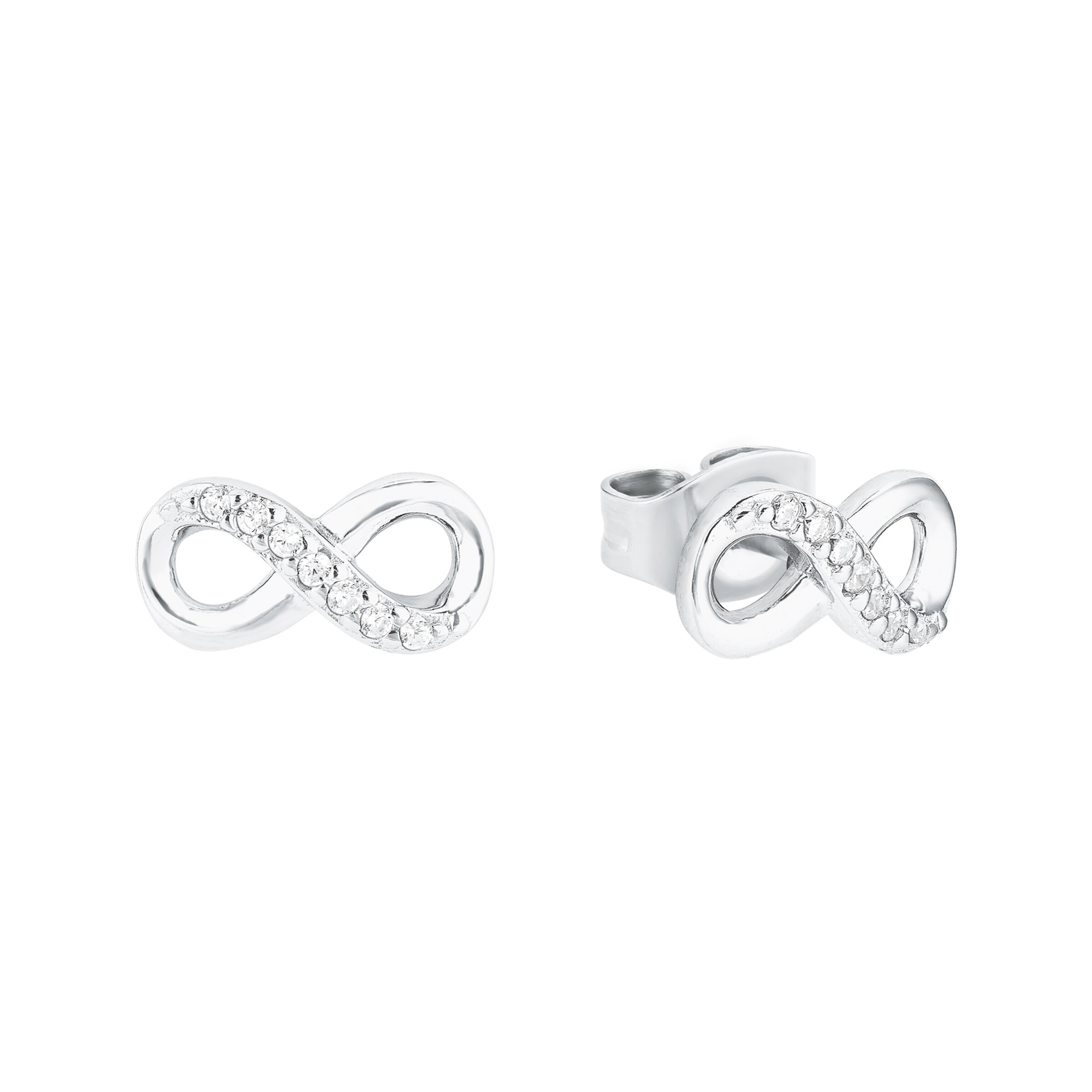 Set Silber 925, rhodiniert Swarovski Kristall® Infinity