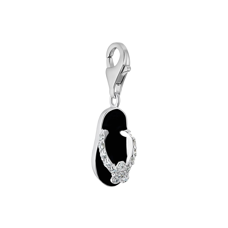 Charm für Damen, 925 Sterling  Silber  Zirkonia | FlipFlop