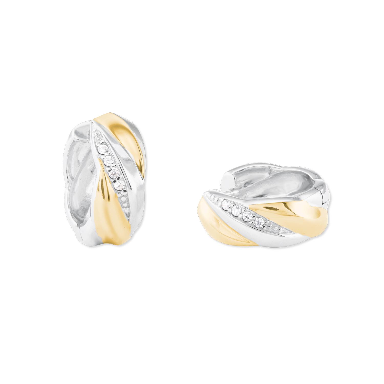 Creolen für Damen, Sterling Silber 925, Zirkonia