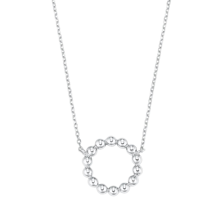 Kette mit Anhänger Silber 925, rhodiniert Kreis