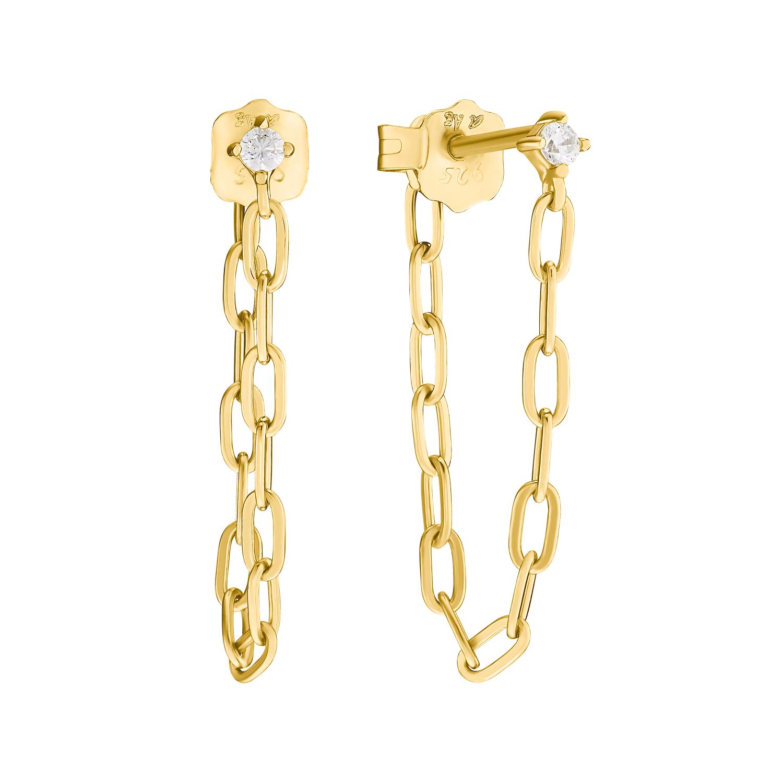Ohrhänger für Damen, Sterling Silber 925 vergoldet | Link