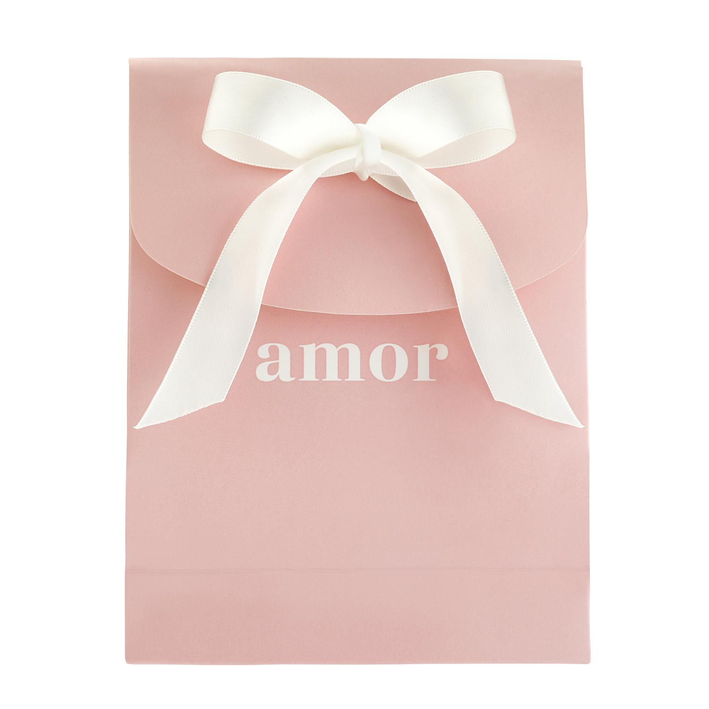 Geschenktasche Geschenk Tasche mit Schleife, rosa