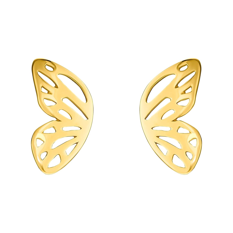 Ohrstecker für Damen, Sterling Silber 925 vergoldet | Schmetterling