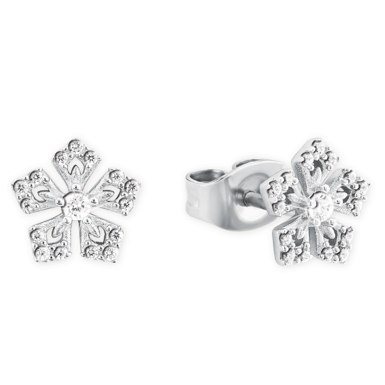 Ohrstecker für Damen, Silber 925, Blume