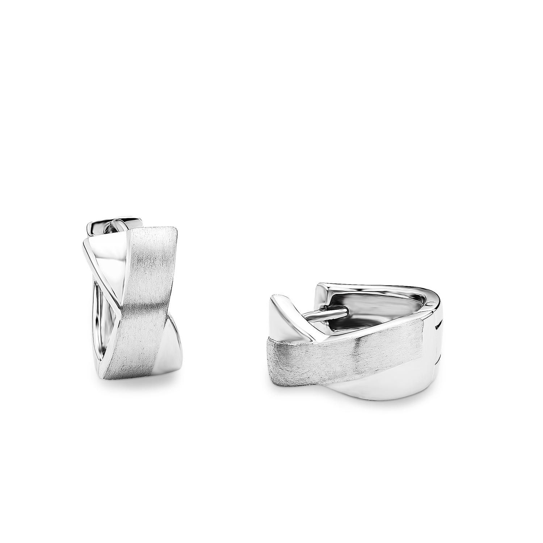Creole für Damen 16 mm 925 Silber rhodiniert
