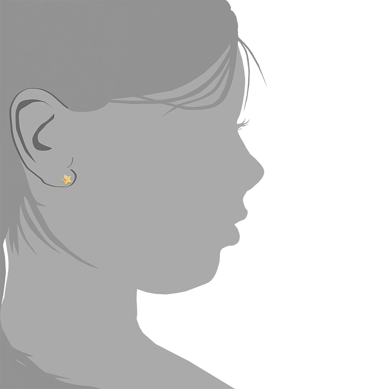 Ohrstecker für Mädchen, Sterling Silber 925, Zirkonia Stern