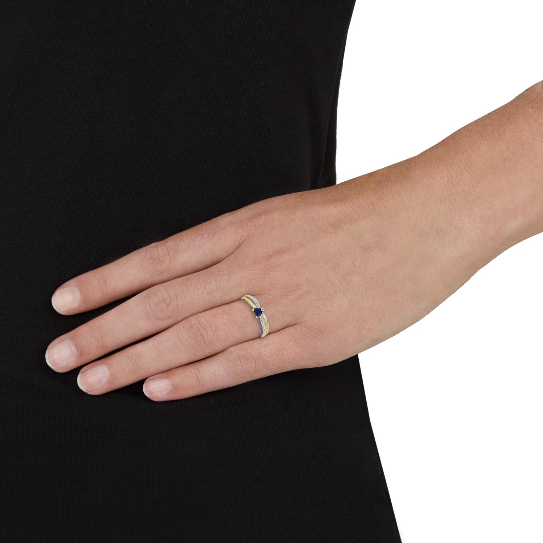 Ring für Damen, Gold 375, Zirkonia Herz