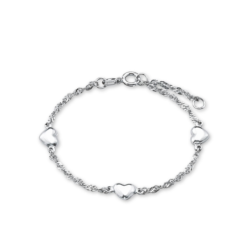 Armband für Mädchen, Sterling Silber 925, Herz