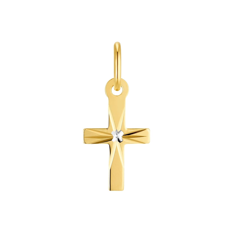 Motivanhänger für Damen, 585 Gold   Kreuz
