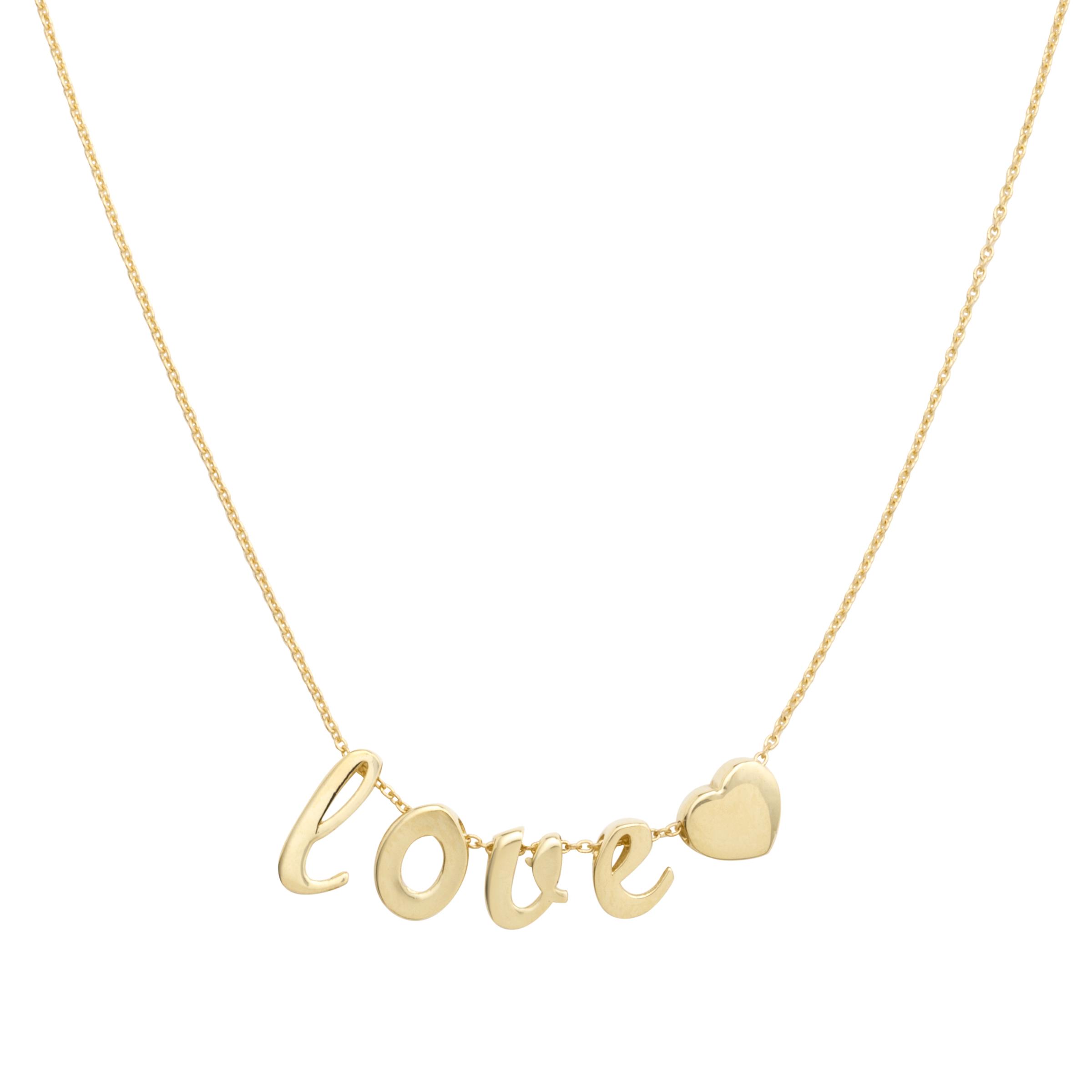 """Kette mit Anhänger für Damen, Gold 375, """"Love"""""""