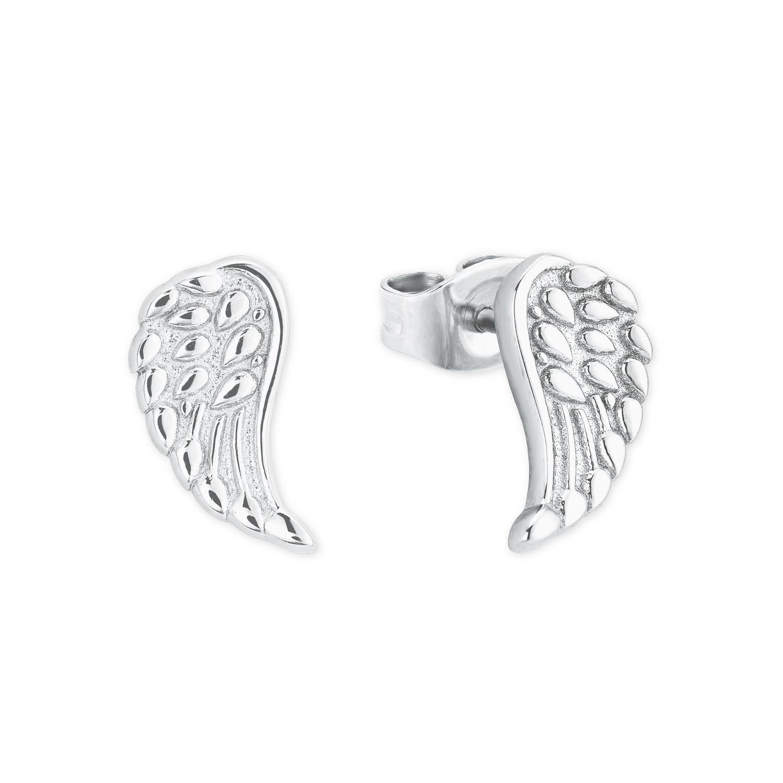 Ohrstecker Silber 925, rhodiniert Flügel