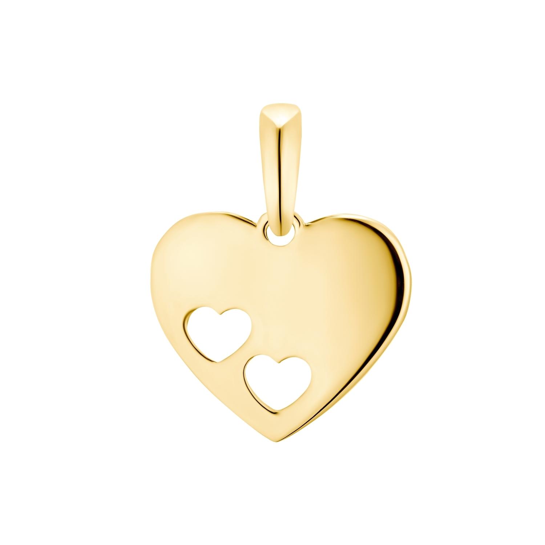 Motivanhänger für Damen, 375 Gold | Herz