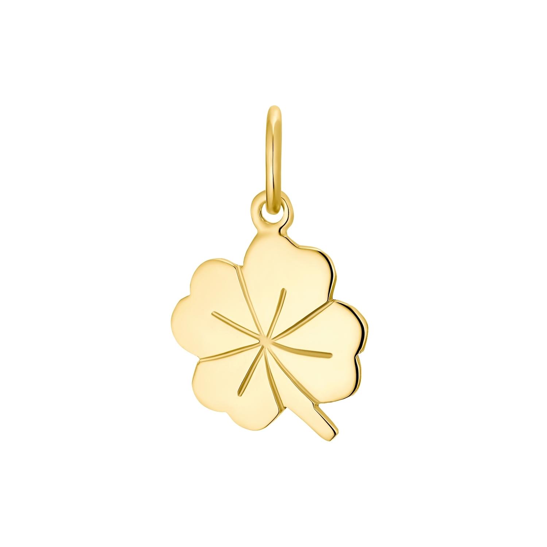 Motivanhänger für Damen, 375 Gold   Kleeblatt
