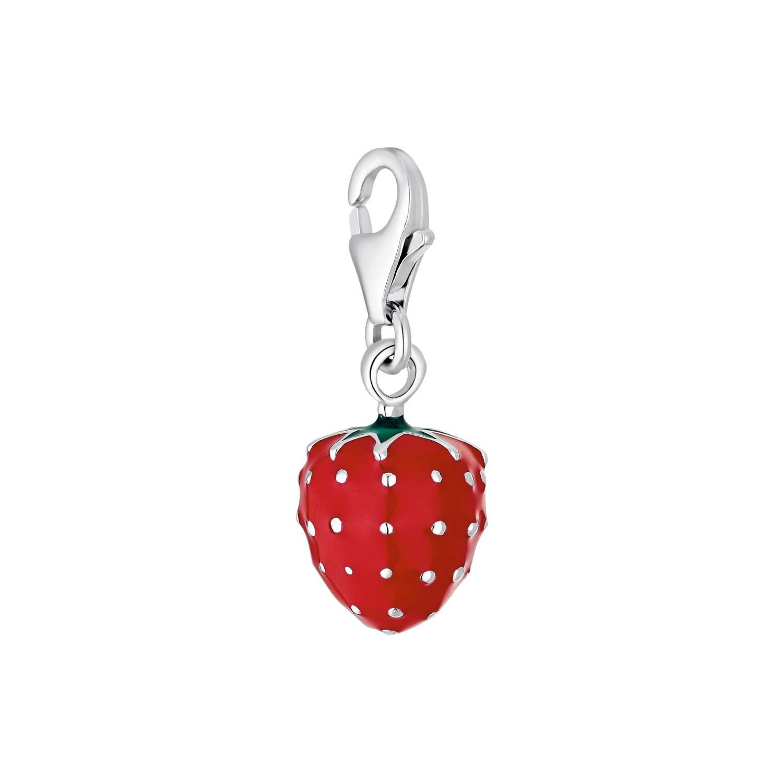 Charms für Damen, 925 Sterling Silber | Erdbeere