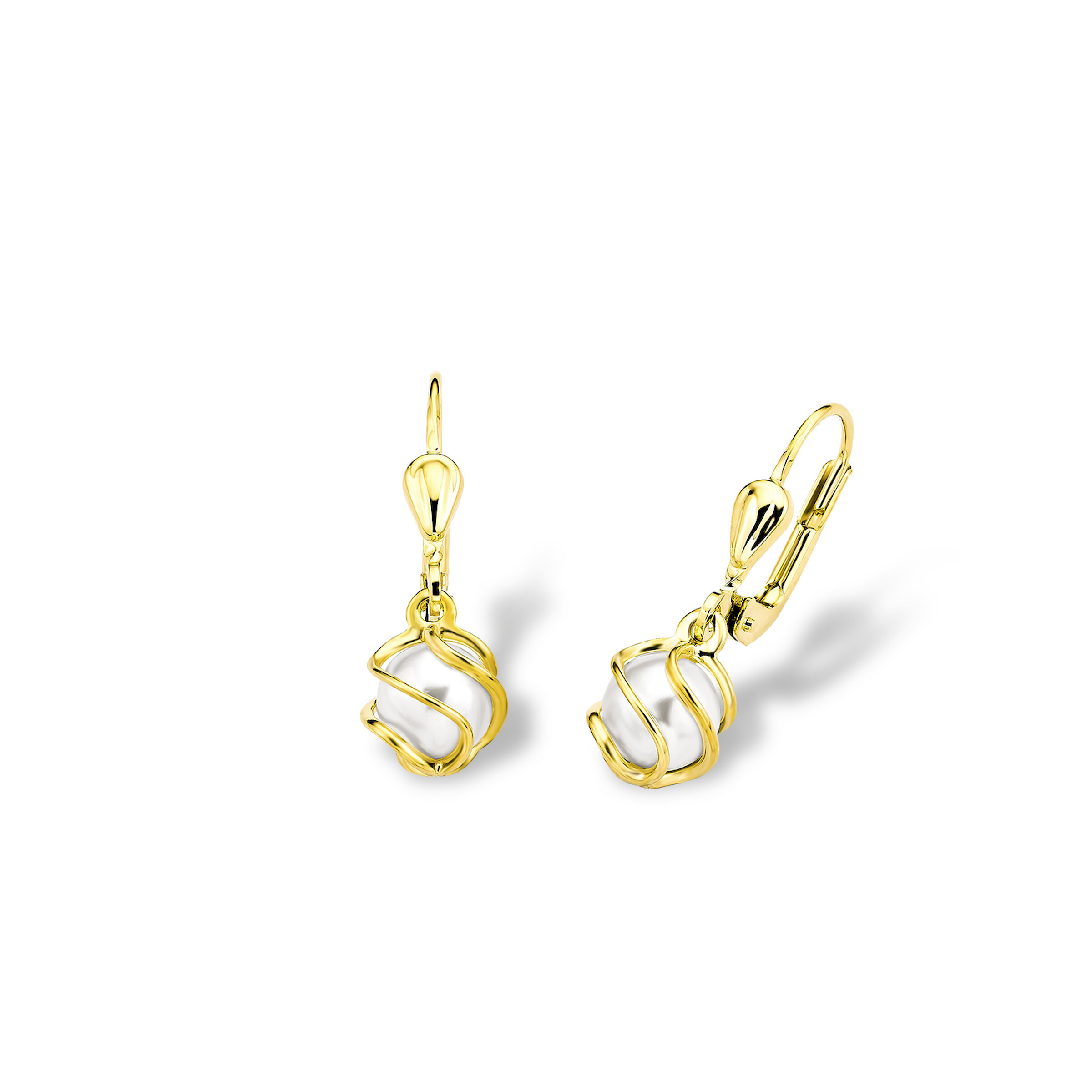 Ohrhänger für Damen, Gold 375, Wachsperle