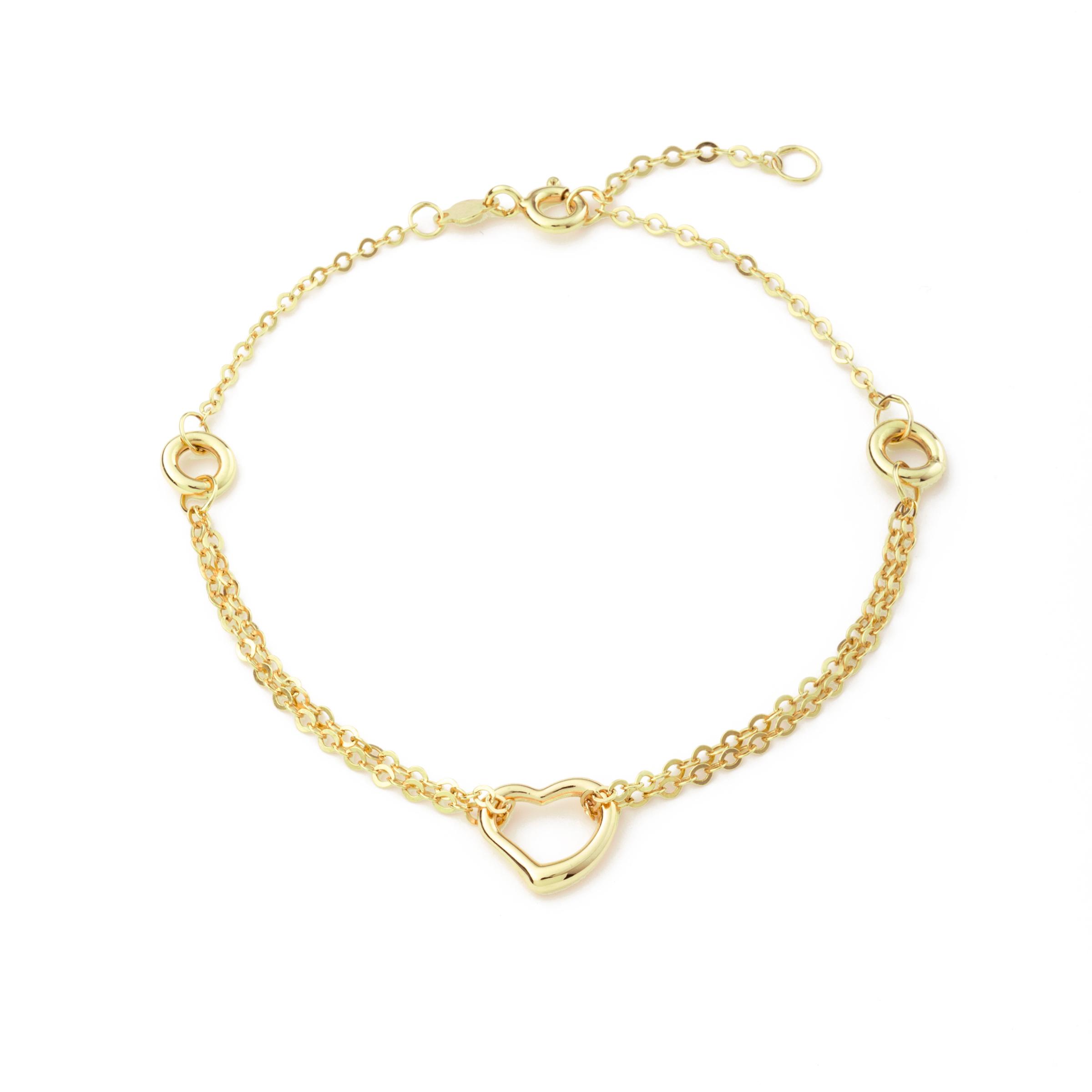 Armband für Damen, Gold 375, Herz