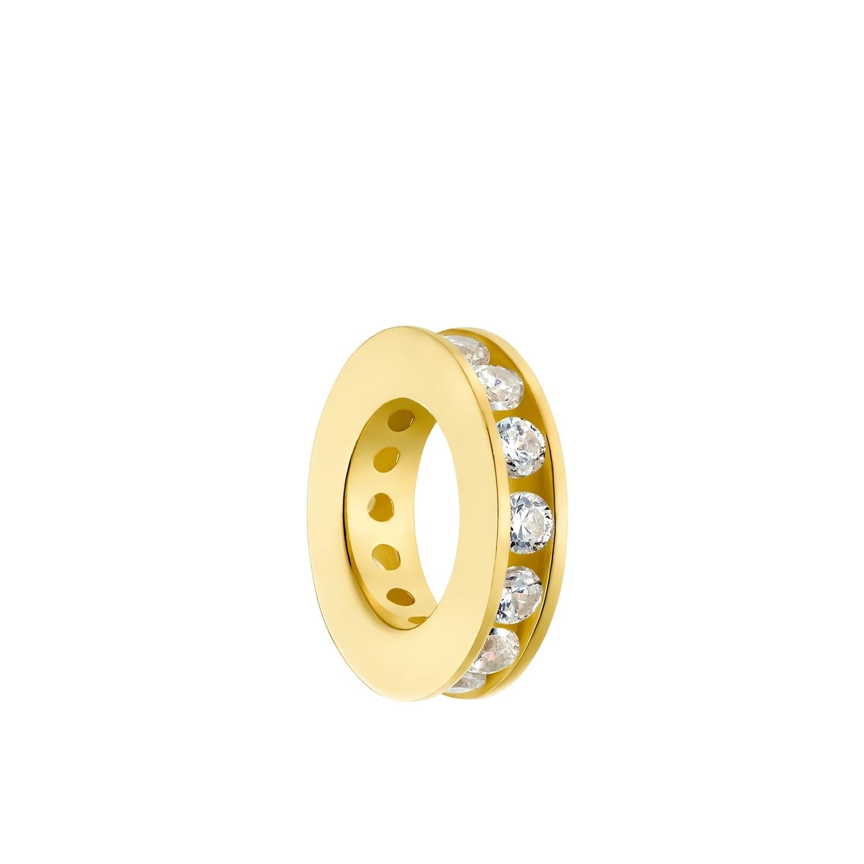Motivanhänger für Damen, 375 Gold Zirkonia   Taufring