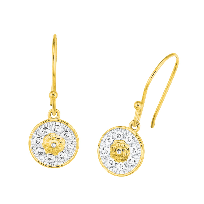 Ohrhänger für Damen, Sterling Silber 925, Zirkonia Ornamente