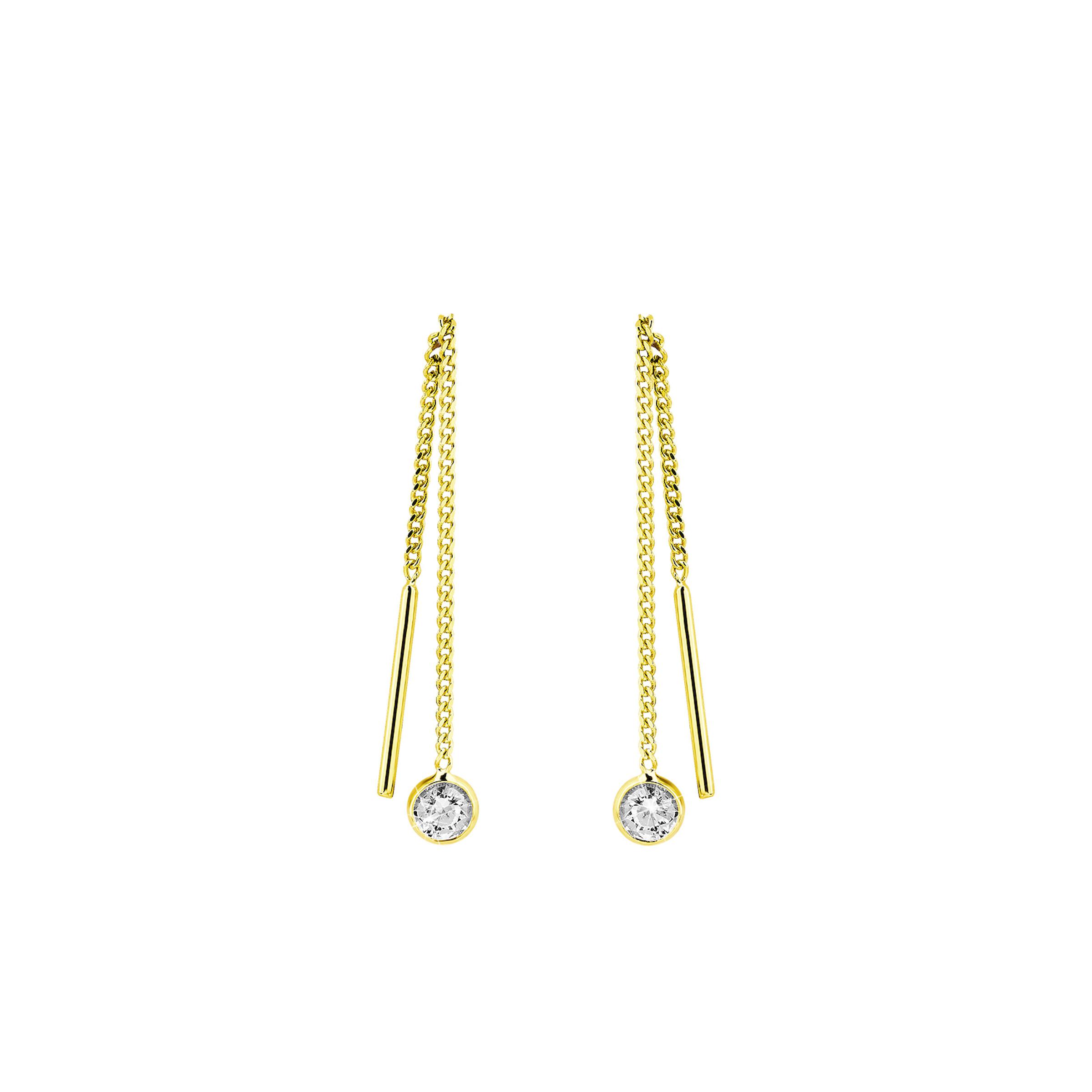 Ohrhänger für Damen, Gold 375, Zirkonia