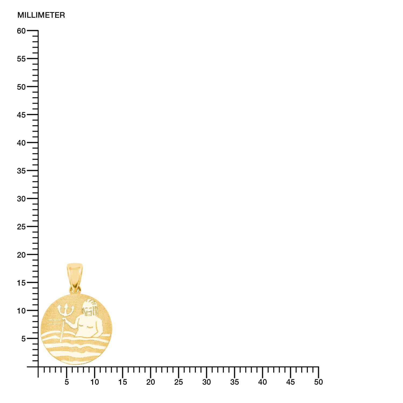 Anhänger Unisex, Gold 375, Wassermann