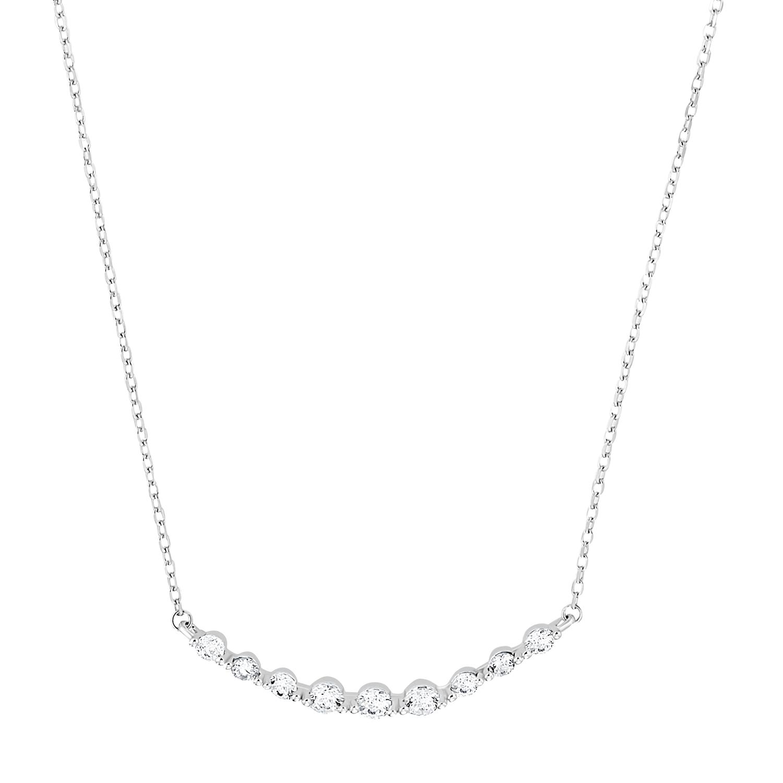 Kette mit Anhänger für Damen, Sterling Silber 925, Zirkonia