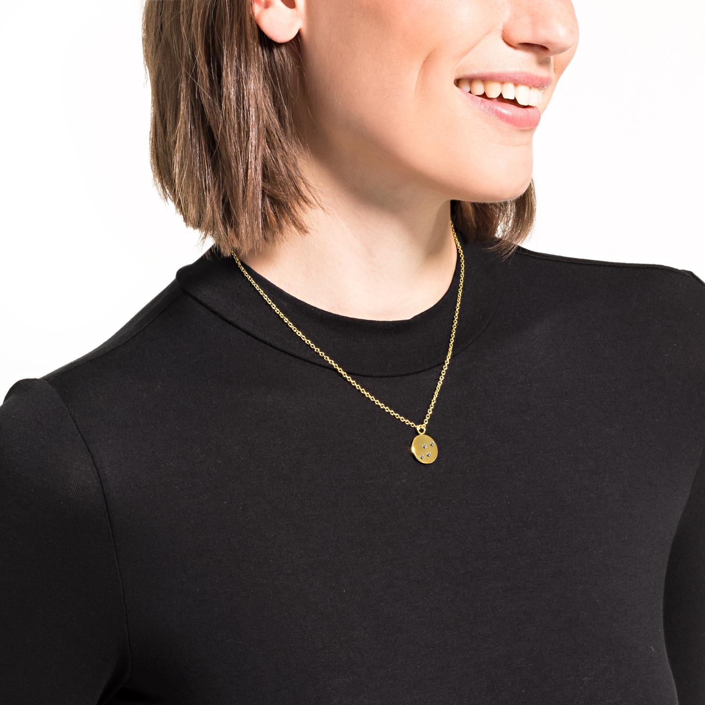 Kette mit Anhänger für Damen, Edelstahl IP Gold | Pfote, Tatze gravierbar