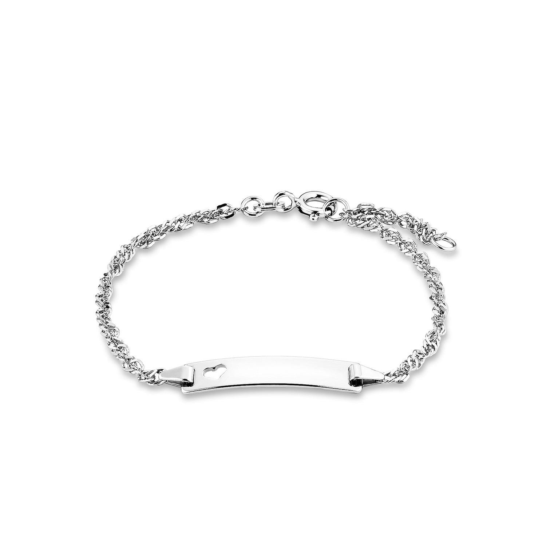 Identarmband für Damen, Sterling Silber 925