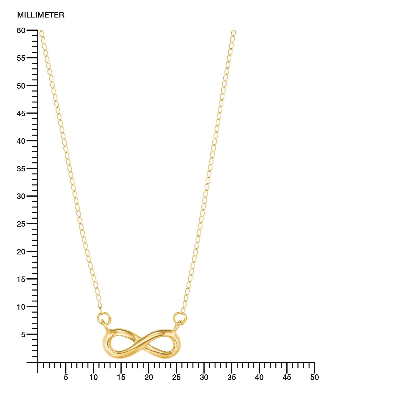 Kette mit Anhänger für Damen, Gold 585, Infinity