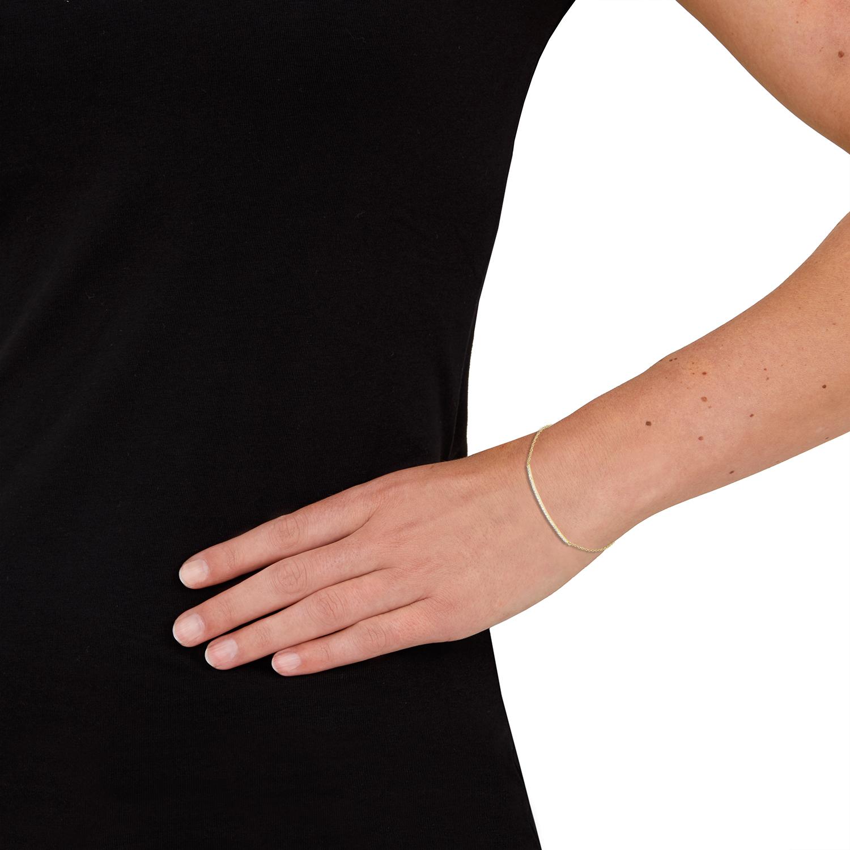 Armband für Damen, Gold 585, Zirkonia