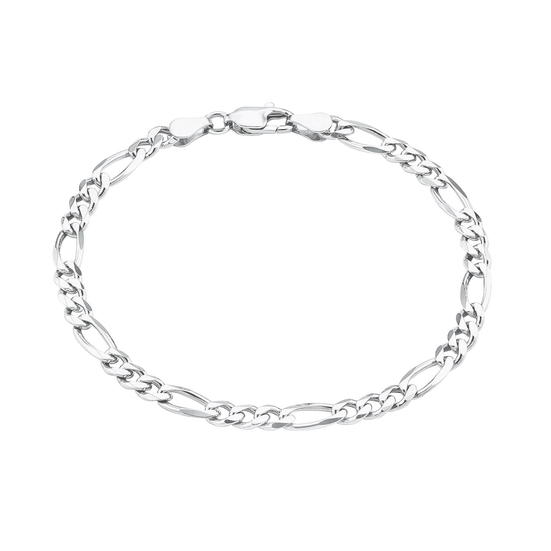 Armband für Herren, Silber 925, 19 cm Figaro