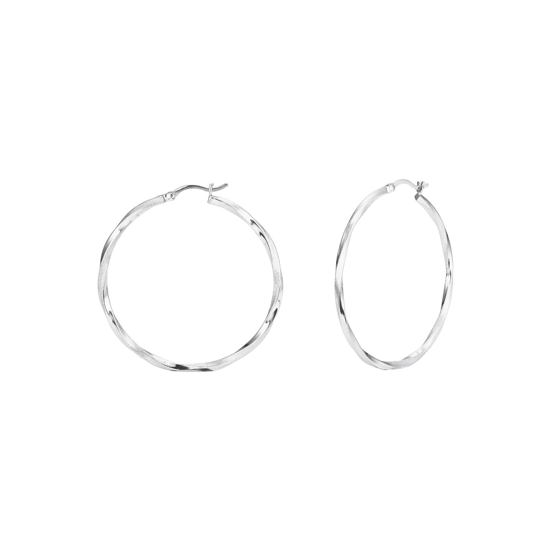 Creolen für Damen, Sterling Silber 925