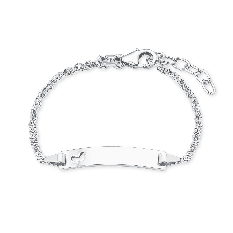 Armband für Mädchen, Sterling Silber 925, Schmetterling
