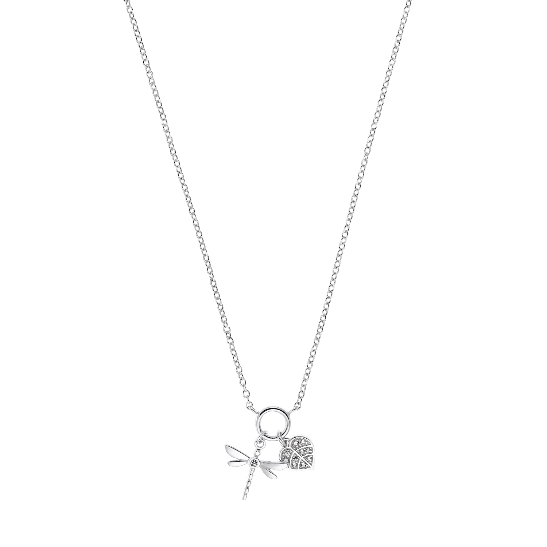 Kette mit Anhänger für Damen, Sterling Silber 925 | Libelle