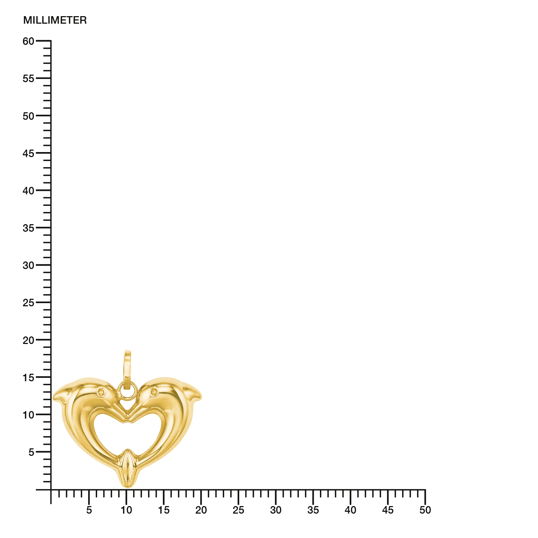 Anhänger Gold 585/14 ct Delphin