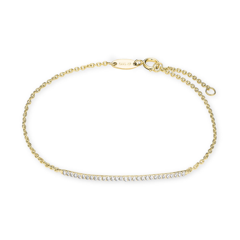 Armband Gold 585/14 ct Zirkonia synth.