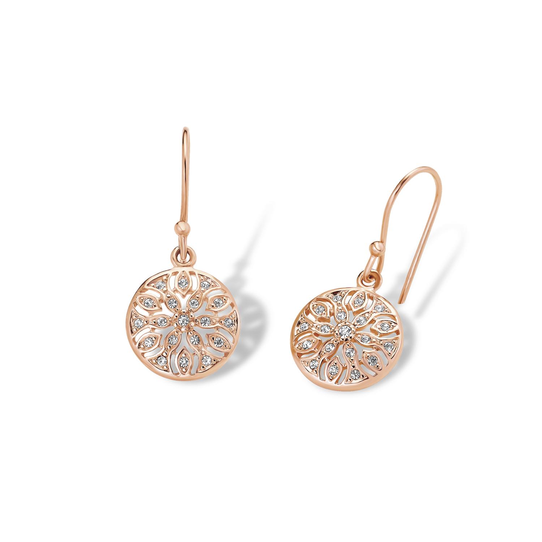 Ohrring für Damen, Sterling Silber 925, Kristall